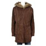 Дамско кожено яке с качулка Wilsons Leather
